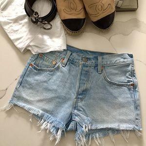 Levi's 501-Jeans cut off shorts SZ W24
